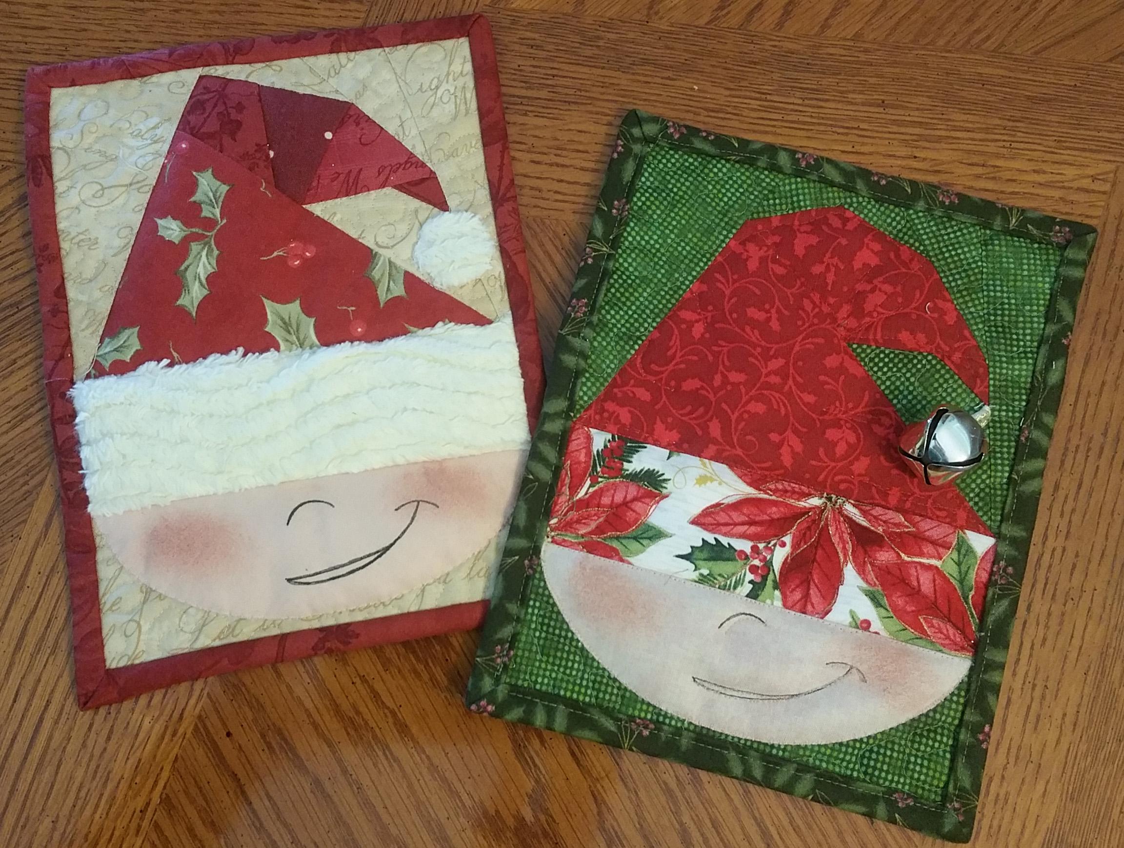 Christmas Elf Mug Rug Material Girlfriends Quilt