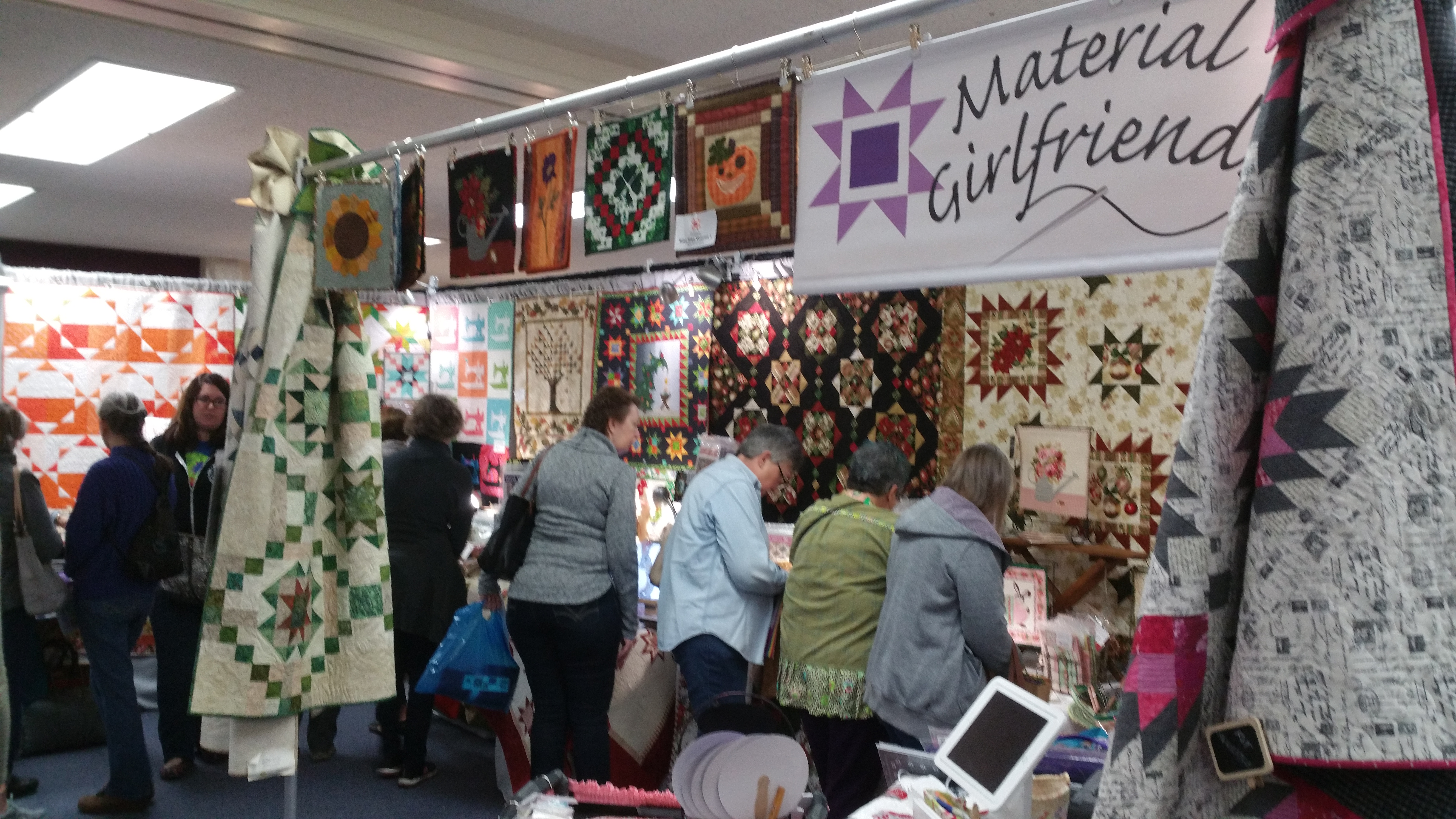 545cc2f0b5c We were in Sacramento this past weekend at the River City Quilters' Guild  show. Look how much fun we were having.